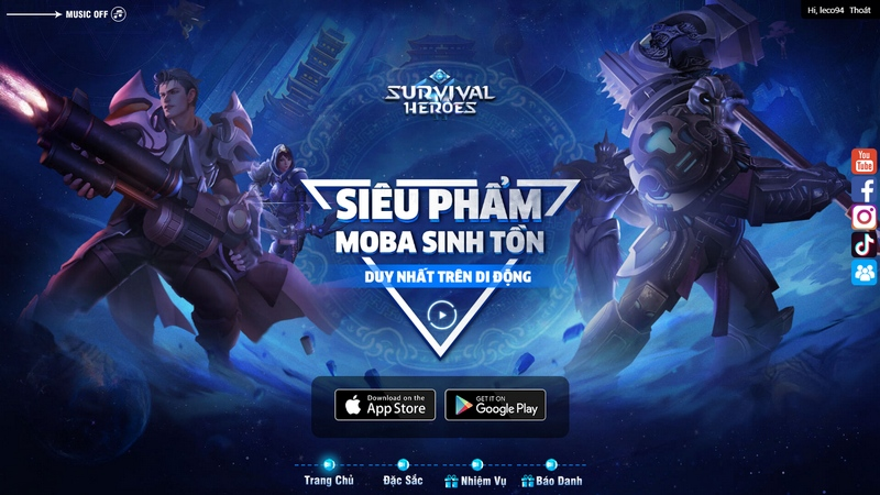 Nạp thẻ Survival Heroes